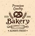bakery vintage emblem label badge or logo vector image vector image