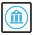 Bank Building Framed Icon vector image