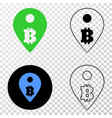 bitcoin map marker eps icon with contour vector image