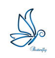 blue abstract butterfly vector image vector image