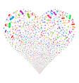 boy fireworks heart vector image vector image