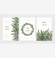 bundle of elegant stylish wedding invitation vector image vector image