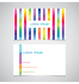 business card template from a strip from color vector image