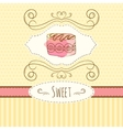 cake hand drawn card vector image