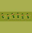 cartoon irish leprechaun character big set vector image vector image