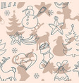 christmas and new year seamless pattern vector image vector image