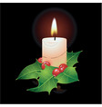 christmas candle and ho vector image
