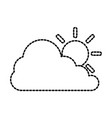 cloud silhouette with sun vector image