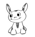 coloring book cute little monster vector image