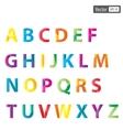 colourful alphabet set vector image