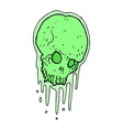comic cartoon slimy skull vector image vector image