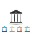 courthouse icon isolated on white background vector image vector image