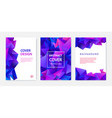 covers templates set with graphic geometric vector image vector image
