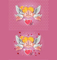 cute boy and girl cupids vector image vector image