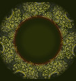 dark green template for greeting card vector image vector image