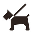 dog on a leash icon vector image vector image