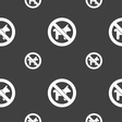 dog walking is prohibited icon sign Seamless vector image