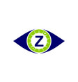 eye care solutions letter z vector image