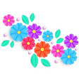 flowersleaves and beads vector image vector image