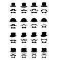 Gentleman icons set vector image vector image