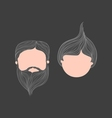 Girl and Man Head Avatar vector image vector image