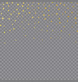 gold foil confetti christmas texture for holiday vector image