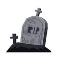 grave cemetery cross holiday halloween vector image