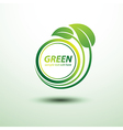 Green labels2 vector image vector image