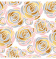hand drawn abstract rose flowers seamless pattern vector image vector image