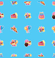 happy birthday concept pattern sweet cake with vector image