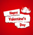 Happy Valentines day with paper dripper vector image vector image