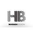 hb h b lines letter design with creative elegant vector image vector image