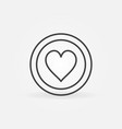 hearts card suit outline concept icon vector image vector image