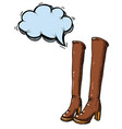 high boots-100 vector image vector image