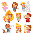 hobbies funny cartoon character vector image