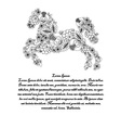 Horse in Ukrainian traditional painting vector image vector image