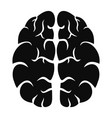 human brain icon simple style vector image vector image