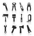 Icons of tools vector image vector image