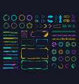interface hud elements digital holographic hud vector image