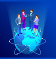 isometric business team business people concept vector image vector image