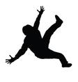 man dancing black silhouette vector image vector image