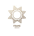 minimalistic abstract frame snowflake logo vector image vector image