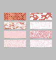 modern abstract dot pattern banner background set vector image vector image
