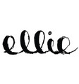 name ellie scratched vector image