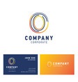o company logo design with visiting card vector image