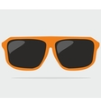Orange hipster sunglasses vector image vector image