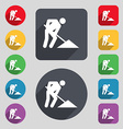 repair of road construction work icon sign A set vector image vector image