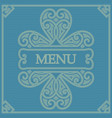 retro card for menu or for decoration vector image