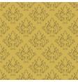 seamless damask vintage floral background vector image
