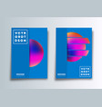 set cover template with colorful gradient vector image